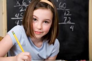 elementary school math student