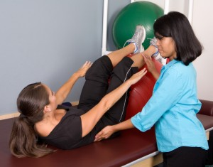 physical therapy exercise ball